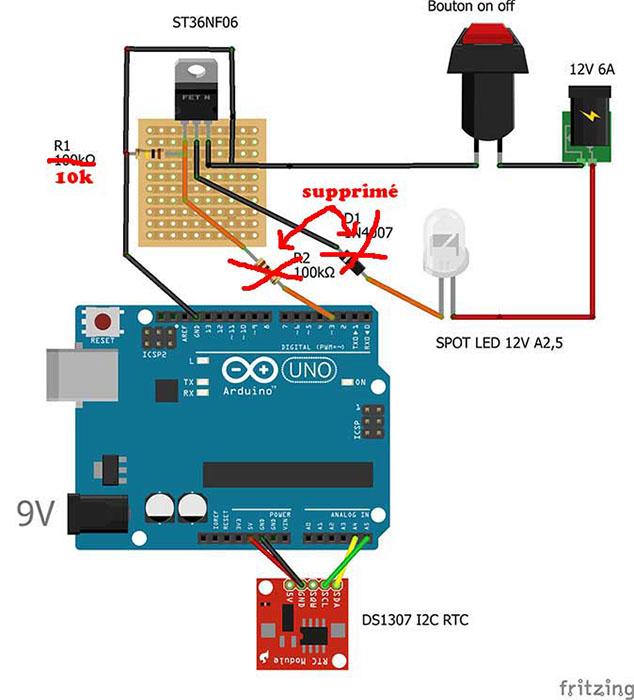 arduino variateur lumiere